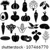 set of vector vegetables - stock vector