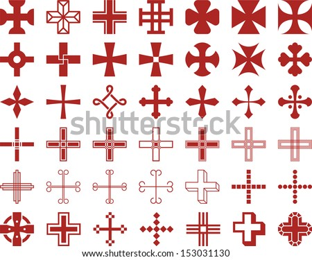 Set of vectorized Crosses