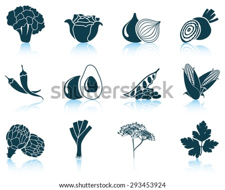 Set of vegetable icons - stock vector