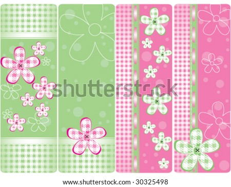 Set of vertical tags - stock vector