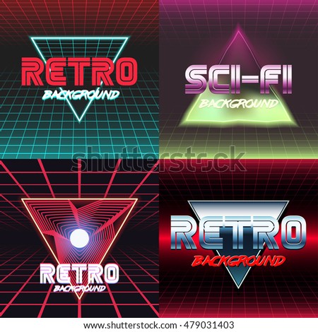 set vhs design covers retro style stock vector royalty free
