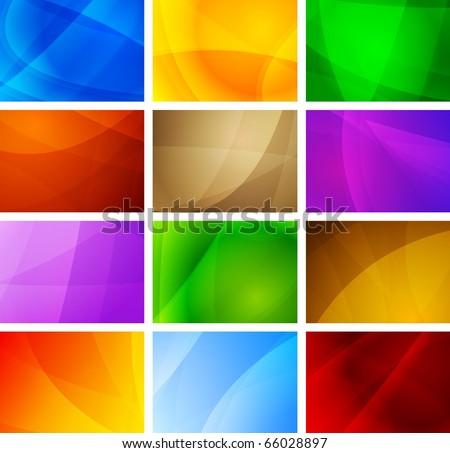 Set of vibrant simple backdrops. Eps 10 vector illustration - stock vector