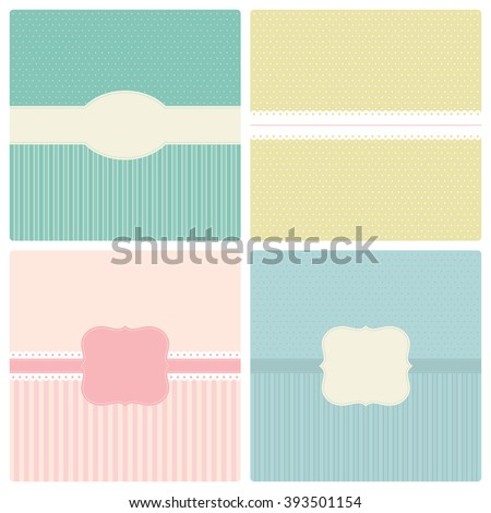 Set of vintage backgrounds and labels to place text inside. Vector illustration