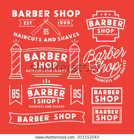 barber logo business card template design for barber shop vintage ...