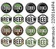 set of vintage beer labels - stock vector