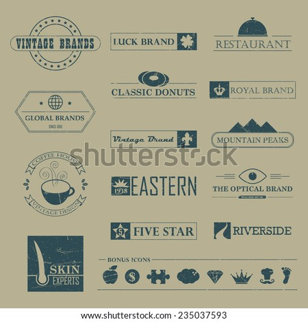 Set of Vintage brands and logo design Elements