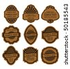 Set of vintage brown labels for design food and beverages. Jpeg version also available - stock vector