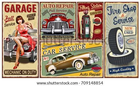 Old Fashion Garage Signs