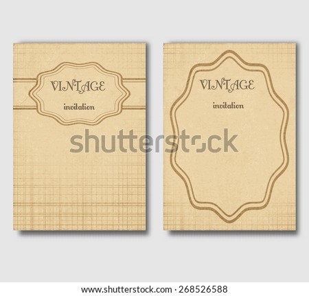 Set of vintage cards, invitations or banners. Vector illustration. - stock vector