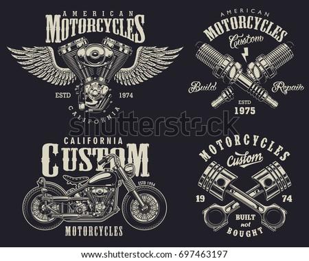 Vintage Honda Motorcycle Badges
