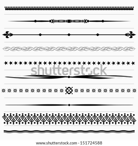 Set of vintage design elements for page text - stock vector