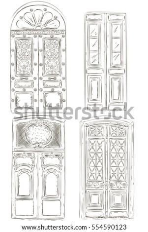 Set Of Vintage Door