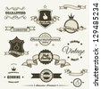Set of vintage elements - stock vector