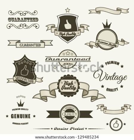Set of vintage elements - stock vector