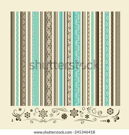 Set of vintage elements for design. A vector. - stock vector