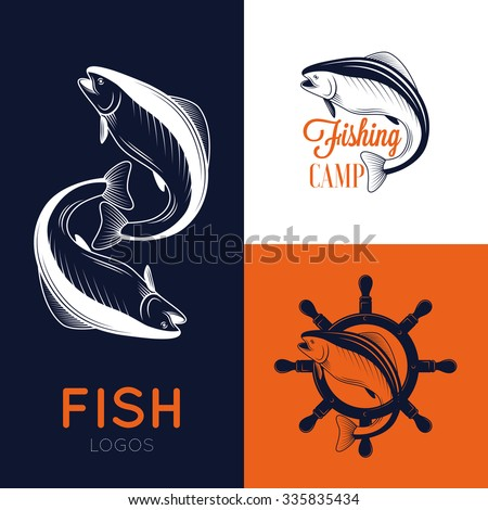 Free fishing logos graphics