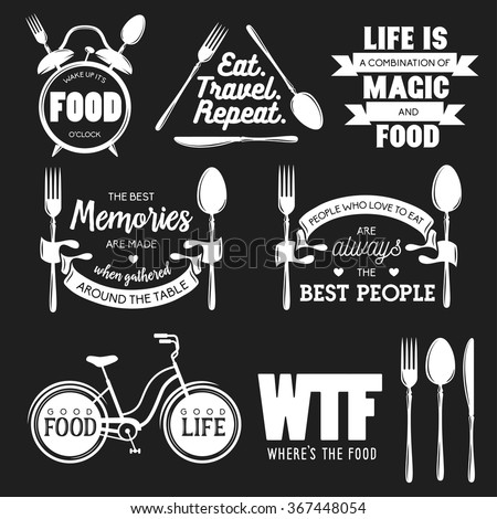 kitchen related typography set quotes about stock vector 403157062 shutterstock