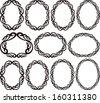 set of vintage frames - design elements - stock vector