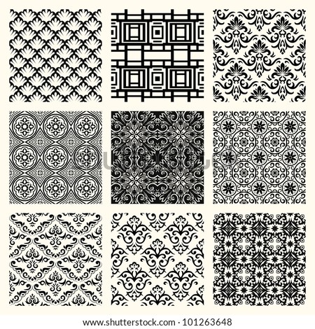 Set of vintage frames. Simple but stylish and elegant - stock vector
