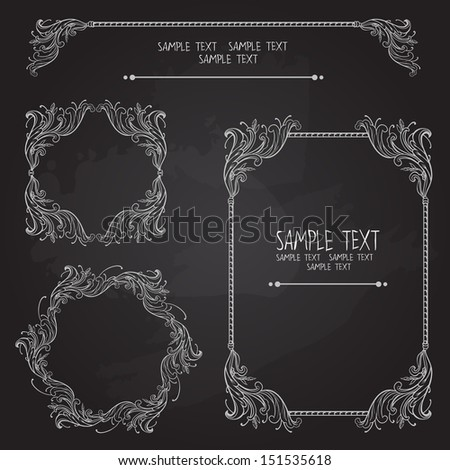 Set of vintage graphic elements. Vector illustration - stock vector