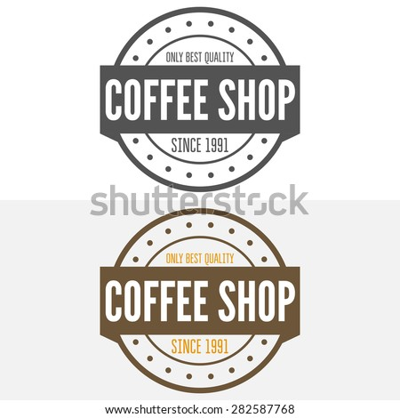 Set of vintage labels, emblems, and logo templates of coffee shop, cafe, cafeteria, bar or restaurant - stock vector