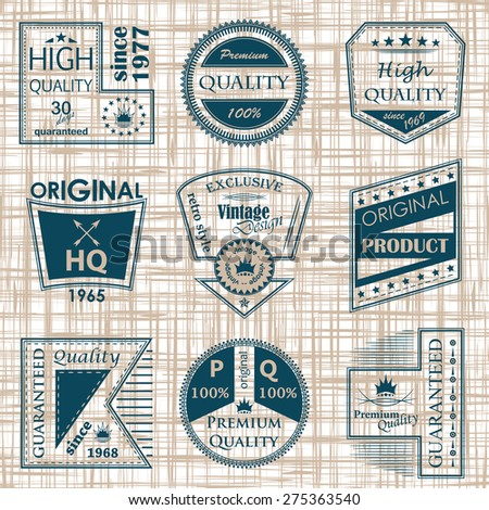 Set of vintage labels. Original design   - stock vector
