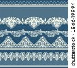 Set of vintage lace borders. Could be used as divider, frame, etc - stock