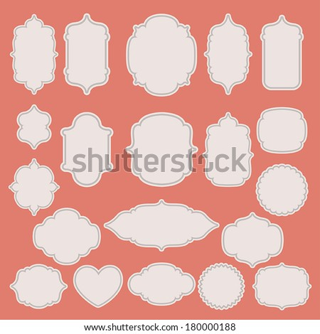 Set of vintage paper labels. Vector illustration  - stock vector