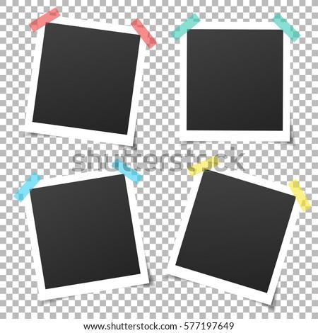 Set Vintage Photo Frame Adhesive Tape Stock Vector 577197649 ...