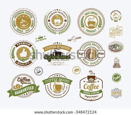 Collection premium quality tea labels stock vector for Classic house labels
