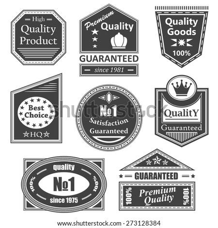 Set of vintage retro labels, stamps. Vector set of labels     - stock vector