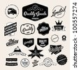 Set of Vintage Retro Styled Quality Labels - stock