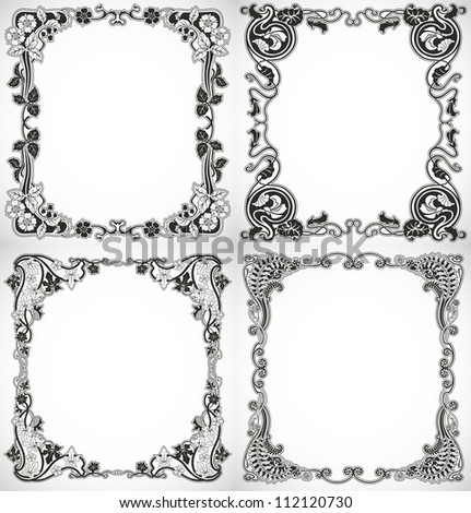 Set of vintage style design - stock vector