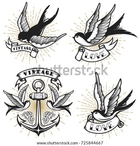 Chic vintage style pictures to pin on pinterest tattooskid for Tattoo style logo design