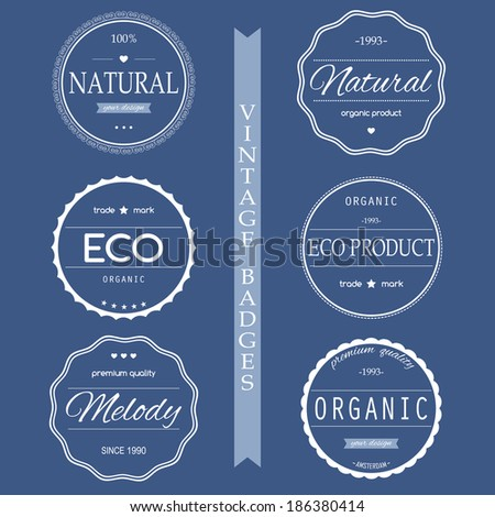 Set of vintage styled design Hipster icons. Corporate website design. - stock vector