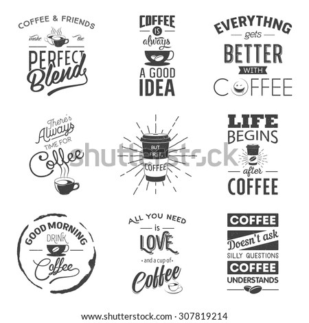 Set of vintage wine typographic quotes. Grunge effect can be edited or removed. Vector EPS10 illustration.  - stock vector