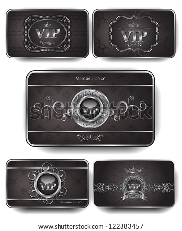 Set of Vip silver cards