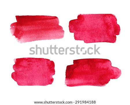 Set of watercolor banners. Vector illustration. - stock vector