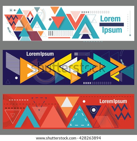 Set of web banners. Vector template. - stock vector