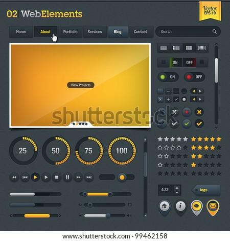 Set of web design elements - stock vector
