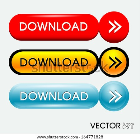 Set of web download icon