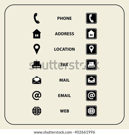 Set web icons business cards finance stock vector 402661996 set of web icons for business cards finance and communication multipurpose symbols for design colourmoves