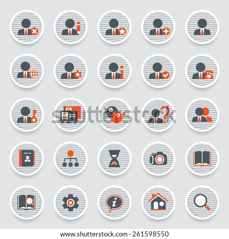 Set of web icons for business, e-commerce and marketing. - stock vector