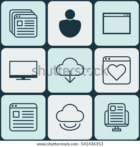 Set 9 Web Icons Includes Followed Stock Vector 541436353 Shutterstock