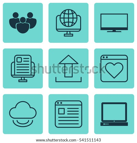 Set 9 Web Icons Includes Website Stock Vector Hd Royalty Free