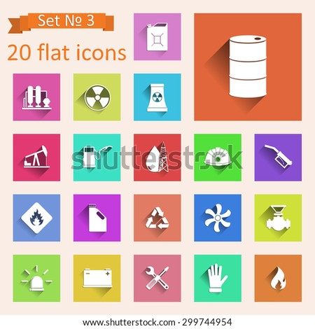Set of web icons on a theme the industry. - stock vector