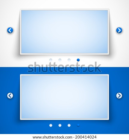 Set of web image sliders. Vector illustration - stock vector