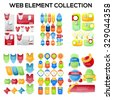 Set of Web sale elements.special offer labels and banners. - stock vector