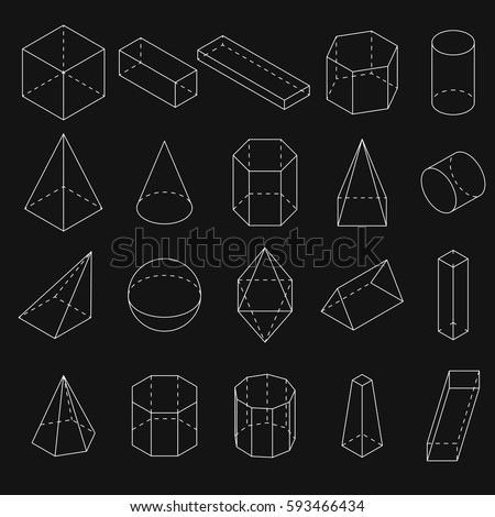 Scalene Triangle Outline Geometry Shapes Stock ...