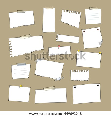 Set of white papers / vector eps 10 illustration